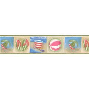 "Chesapeake Beach Wallpaper Border - 15' x 5"""