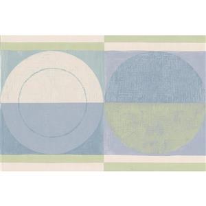 Norwall Abstract Semi Circles Wallpaper Border - 15' x 7-in- Blue
