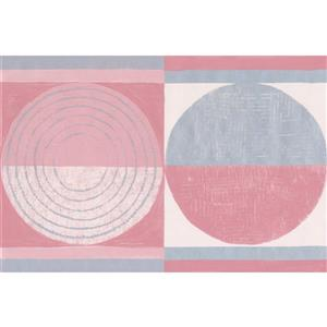 Norwall Abstract Semi Circles Wallpaper Border - 15' x 7-in- Red