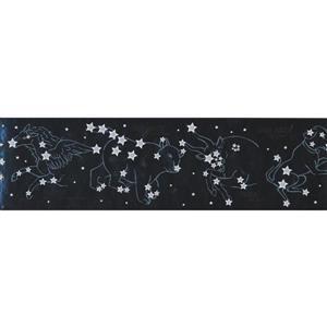 York Wallcoverings Night Sky Wallpaper Border - 15-ft - Black