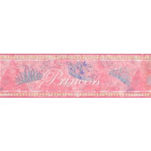 York Wallcoverings Faux painted Princess Wallpaper Border - 15-ft x 7-in - Pink