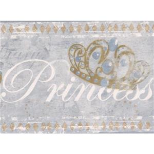 York Wallcoverings Faux painted Princess Wallpaper Border - 15-ft x 7-in - Gray