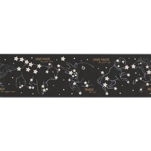 York Wallcoverings Night Sky Wallpaper Border - 15-ft x 7-in - Black