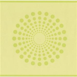 York Wallcoverings Dots in Circle Wallpaper Border - 15-ft x 5.25-in - Green
