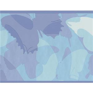 York Wallcoverings Abstract Butterflies Wallpaper Border - 15-ft x 6-in - Blue
