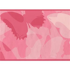 York Wallcoverings Abstract Butterflies Wallpaper Border - 15-ft x 6-in - Pink
