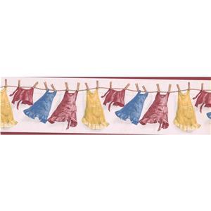 """Retro Art Dresses Wallpaper Border - 15' x 7"""""""
