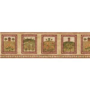 Norwall House on the Hill Wallpaper Border - 15' x 7-in- Brown