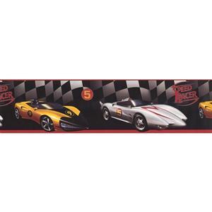 York Wallcoverings Race Cars Wallpaper Border - 15-ft x 6.25-in - Black