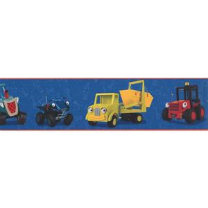 York Wallcoverings Toy Cars Wallpaper Border - 15-ft x 6-in - Blue