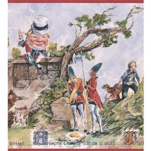 "Retro Art Humpty Dumpty Wallpaper Border - 15' x 10"" - Multicolour"