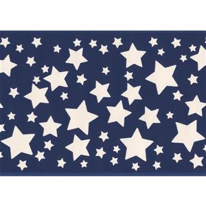 "Retro Art Stars Wallpaper Border - 15' x 5.87"" - Blue"