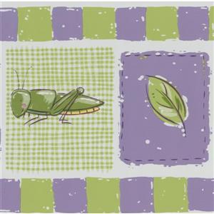"Retro Art Dragonfly Wallpaper Border - 15' x 6.87"" - Green"