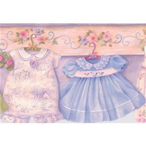 "Chesapeake Baby Clothes Wallpaper Border - 15' x 6.5"" - Multicolour"