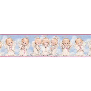 "Chesapeake Angel Kids Wallpaper Border - 15' x 6.25"" - Blue"