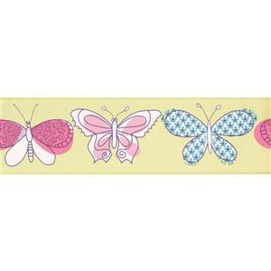 York Wallcoverings Butterfly Wallpaper Border - 15-ft x 7-in - Green