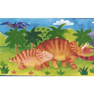 "Chesapeake Dinosaur Baby Wallpaper Border - 15' x 7"" - Multicolour"
