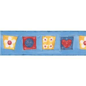 Norwall Kids Baby Wallpaper Border - 15' x 7-in- Blue