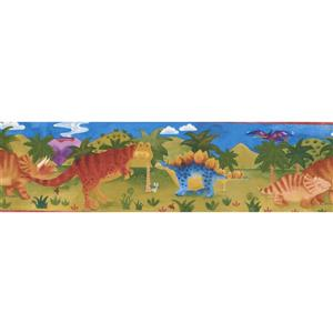 "Chesapeake Cartoon Dinosaur Wallpaper Border - 15' x 7"" - Multicolour"