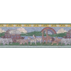 "Retro Art Noah's Arc Wallpaper Border - 15' x 8"" - Multicolour"