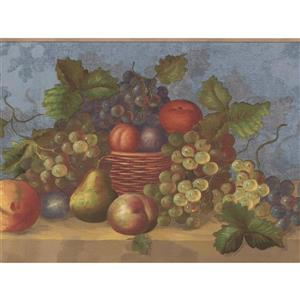 "Retro Art Berries in Baskets Wallpaper Border - 15' x 7"" - Multicolour"