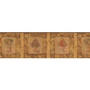 Norwall Fruit Bowl Wallpaper Border - 15' x 7-in- Beige