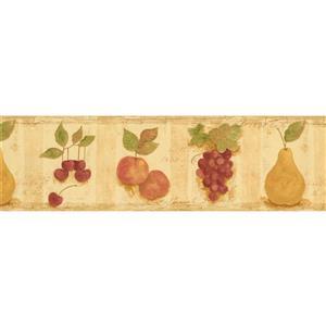 Norwall Grapes Wallpaper Border - 15' x 7-in- Multicolour