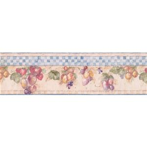 York Wallcoverings Fruits and Berries Wallpaper Border - 15-ft x 7-in - Multicolour