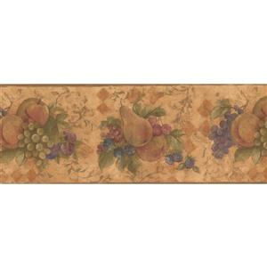 Norwall Vintage Fruits Wallpaper Border - 15' x 9-in- Multicolour