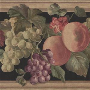 """Retro Art Peaches Bloomed flowers Wallpaper Border - 15' x 9"""""""