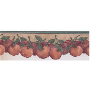 "Retro Art Vintage Tomato Wallpaper Border - 15' x 7.75"" - Red"