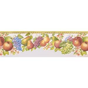 Norwall Cherry Wallpaper Border - 15' x 6.75-in- White