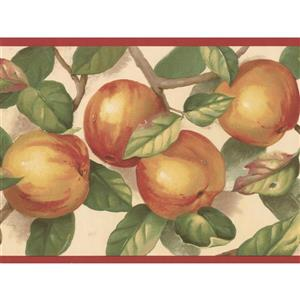 Norwall Apple on Branches Wallpaper Border - 15' x 7-in- Yellow