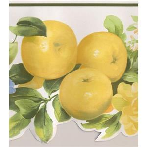 Norwall Bloomed Flowers Wallpaper Border - 15' x 6.25-in- Yellow