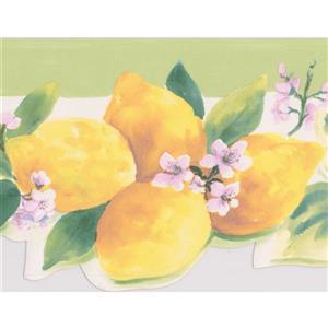 Norwall Lavender Flowers Wallpaper Border - 15' x 5.25-in- Green