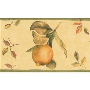 Norwall Lemon on Vines Wallpaper Border - 15' x 5.25-in- Yellow
