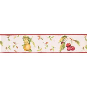 Norwall Lemon on Vines Wallpaper Border - 15' x 5.25-in- White