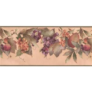 York Wallcoverings Pears on vine Wallpaper Border - 15-ft x 10.5-in - Beige