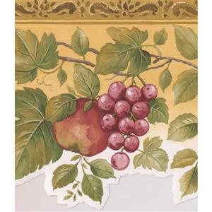 Norwall Fruits on Vine Wallpaper Border - 15' x 6.75-in- Yellow