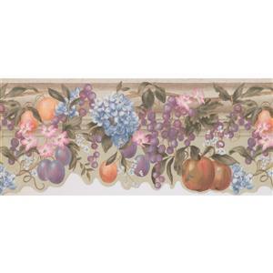 York Wallcoverings Flowers and Fruits on Vine Wallpaper Border - 15-ft x 10.25-in