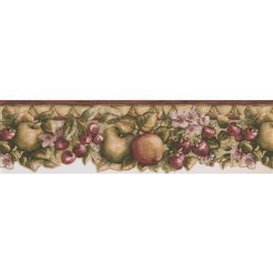 Norwall Apple Cherry Strawberry Wallpaper Border - 15'