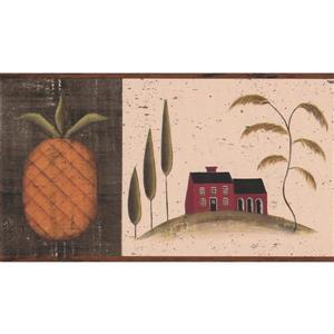 "Chesapeake Vintage House on Hill Wallpaper Border - 15' x 7"""