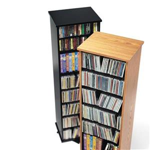 Prepac Furniture 2-Sided Spinning Multimedia Storage Tower