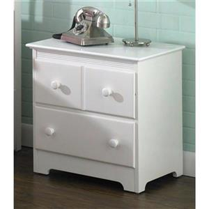 Atlantic Furniture Windsor 2 Drawer Night Stand White