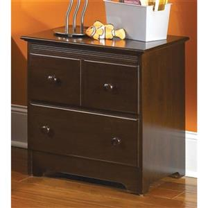 Atlantic Furniture Windsor 2 Drawer Night Stand Walnut