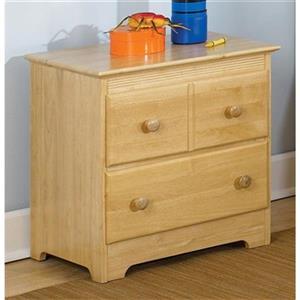 Atlantic Furniture Windsor 2 Drawer Night Stand Naturual