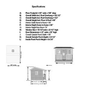 Outdoor Living Today CCP97 9-ft x 7-ft Cedar Cozy Cabin Play