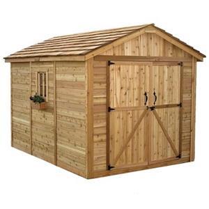 Outdoor Living Today 8-ft x 12-ft Cedar SpaceMaker Storage S