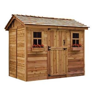 Outdoor Living Today 9-ft x 6-ft Cedar Cabana Garden Shed ... on Outdoor Living Today Cabana id=85169