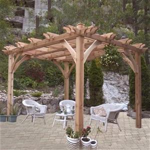 Outdoor Living Today BZ1212 12-ft x 12-ft Cedar Breeze Pergo
